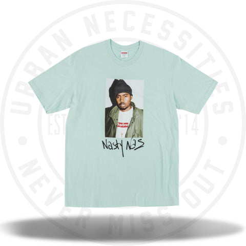 Supreme Nas Tee Light Blue-Urban Necessities