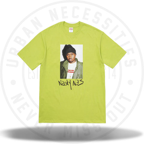 Supreme Nas Tee Lime-Urban Necessities