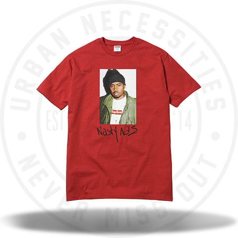 Supreme Nas Tee Red-Urban Necessities