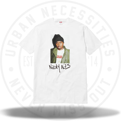 Supreme Nas Tee White-Urban Necessities