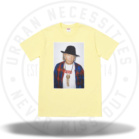 Supreme Neil Young Tee Pale Yellow-Urban Necessities