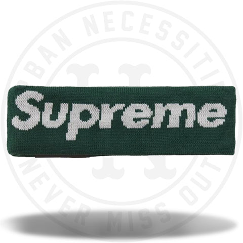 Supreme New Era Big Logo Headband (FW18) Dark Green-Urban Necessities