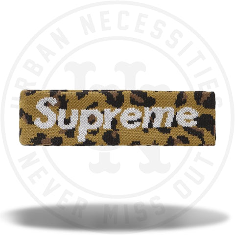Supreme New Era Big Logo Headband (FW18) Leopard-Urban Necessities