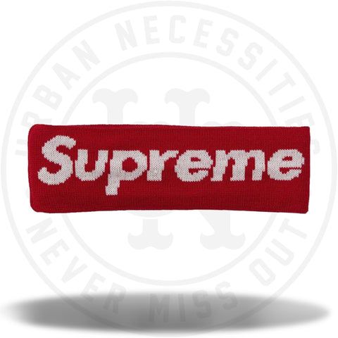 Supreme New Era Big Logo Headband (FW18) Red-Urban Necessities