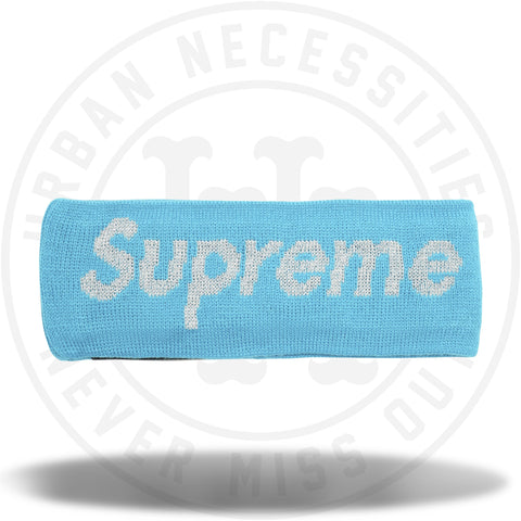 Supreme New Era Reflective Logo Headband (FW 17) Teal-Urban Necessities