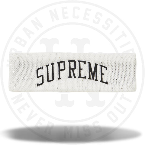 Supreme New Era Sequin Arc Logo Headband White-Urban Necessities