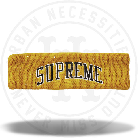Supreme New Era Sequin Arc Logo Headband Yellow-Urban Necessities
