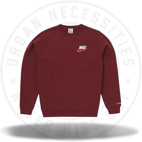Supreme Nike Crewneck Burgundy-Urban Necessities