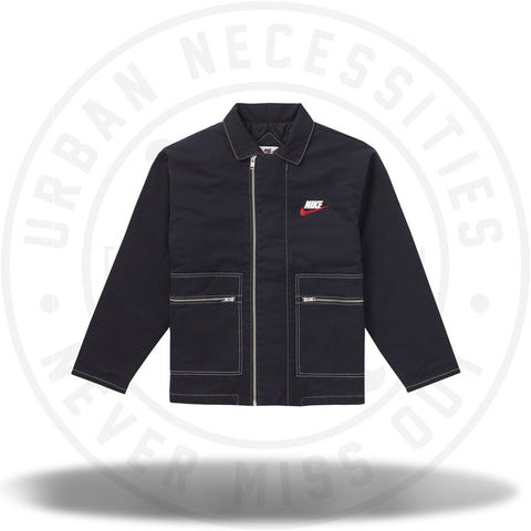 Supreme Nike Double Zip Quilted Work Jacket Black-Urban Necessities