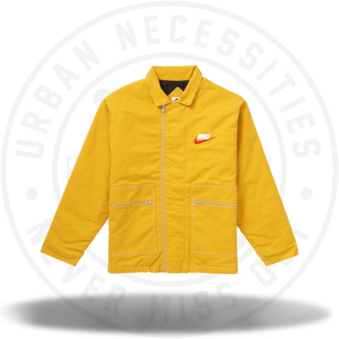Supreme Nike Double Zip Quilted Work Jacket Mustard-Urban Necessities