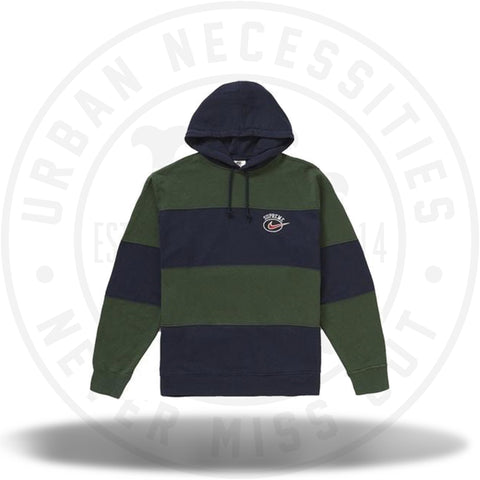 Supreme Nike Stripe Hooded Sweatshirt Navy-Urban Necessities