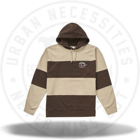 Supreme Nike Stripe Hooded Sweatshirt Tan-Urban Necessities