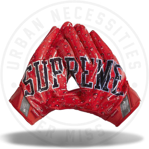 Supreme Nike Vapor Jet 4.0 Football Gloves Red-Urban Necessities