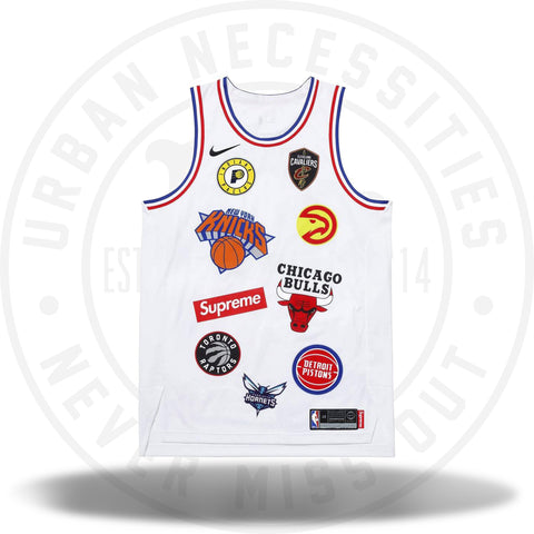 Supreme Nike/NBA Teams Basketball Jersey Authentic White-Urban Necessities
