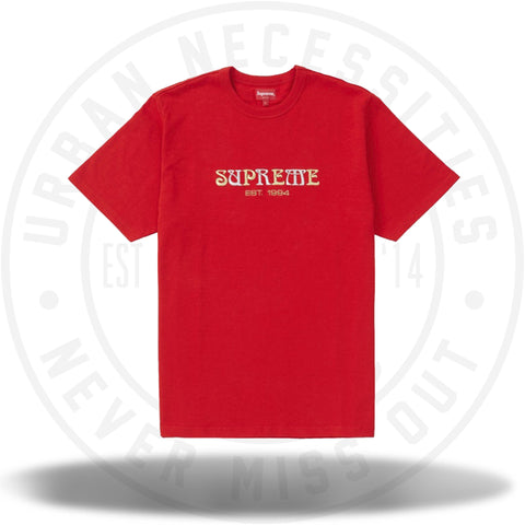 Supreme Nouveau Logo Tee Red-Urban Necessities