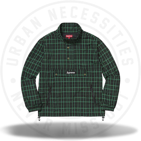 Supreme Nylon Plaid Pullover Green-Urban Necessities