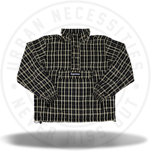 Supreme Nylon Plaid Pullover Tan-Urban Necessities