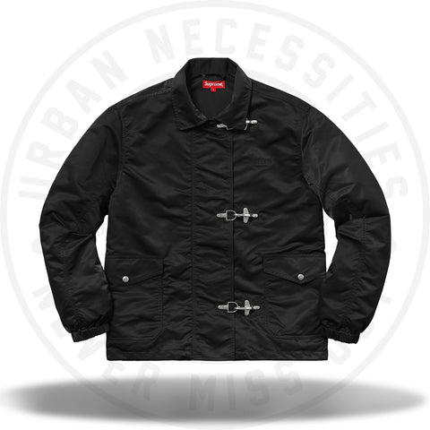 Supreme Nylon Turnout Jacket Black-Urban Necessities