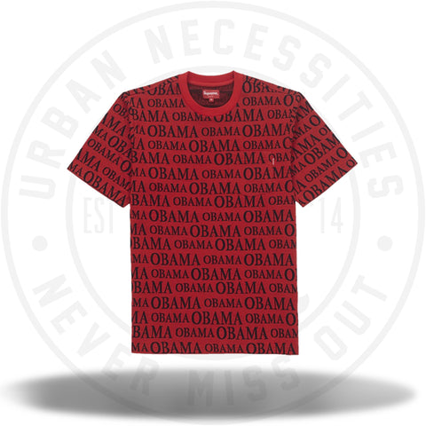 Supreme Obama Jacquard S/S Top Red-Urban Necessities
