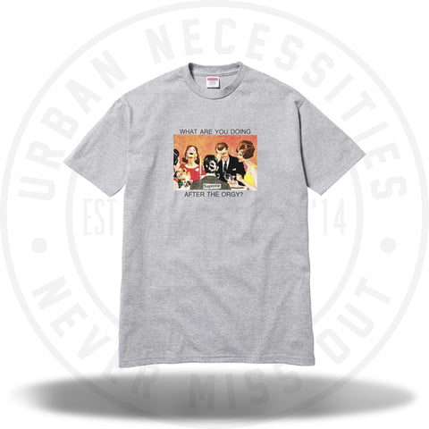 Supreme Orgy Tee Heather Grey-Urban Necessities