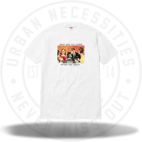 Supreme Orgy Tee White-Urban Necessities