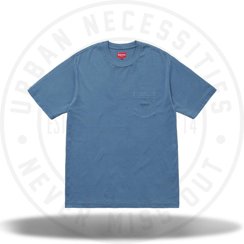 Supreme Overdyed Pocket Tee Washed Dark Blue-Urban Necessities