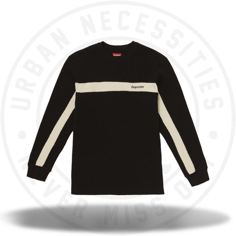 Supreme Panel Stripe Waffle Thermal Black-Urban Necessities