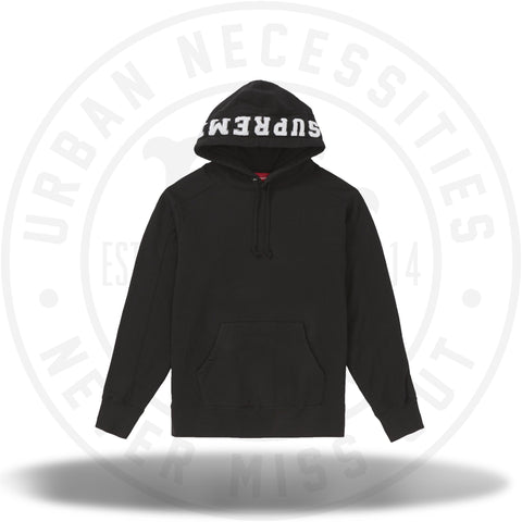 Supreme Paneled Hooded Sweatshirt Black-Urban Necessities