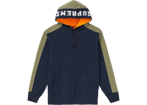 Supreme Paneled Hooded Sweatshirt Navy-Urban Necessities