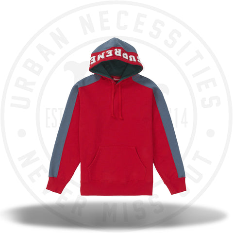 Supreme Paneled Hooded Sweatshirt Red-Urban Necessities