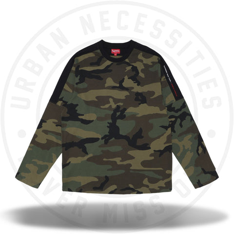 Supreme Paneled L/S Top Woodland Camo-Urban Necessities