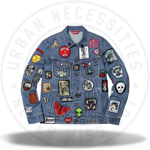 Supreme Patches Denim Trucker Jacket Blue-Urban Necessities