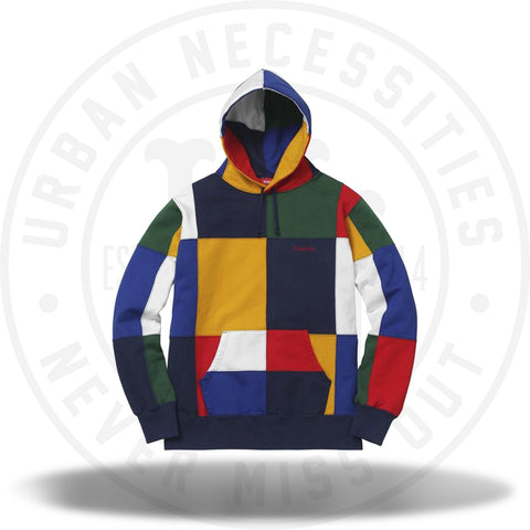 Supreme Patchwork Hooded Sweatshirt Navy-Urban Necessities