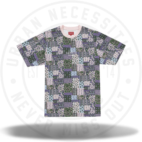 Supreme Patchwork Paisley S/S Top Pink-Urban Necessities