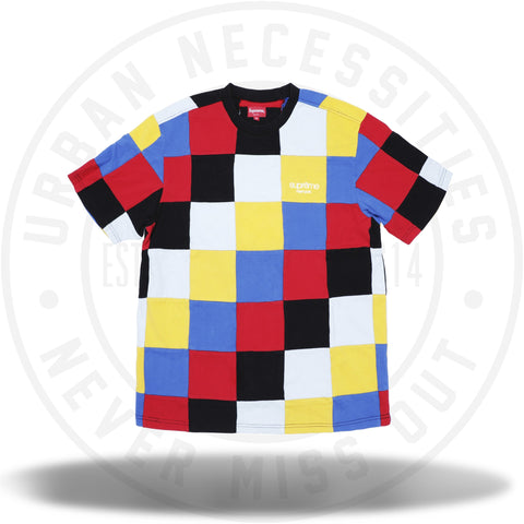 Supreme Patchwork Pique Tee Red/Yellow/Blue-Urban Necessities