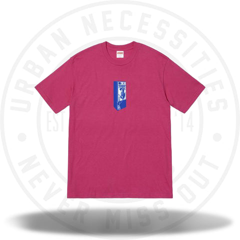 Supreme Payphone Tee Dark Pink-Urban Necessities