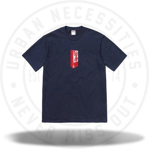 Supreme Payphone Tee Navy-Urban Necessities