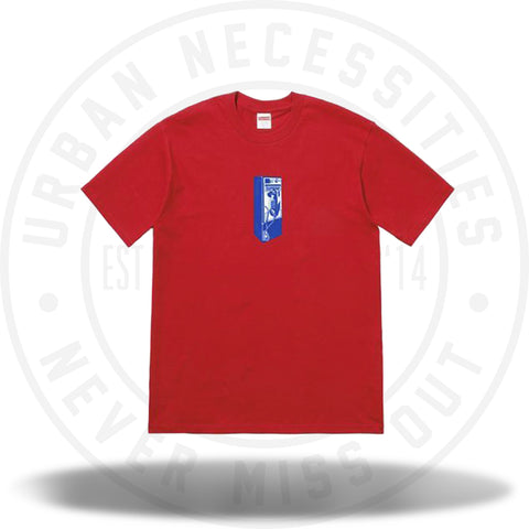 Supreme Payphone Tee Red-Urban Necessities