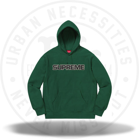 Supreme Perforated Leather Hooded Sweatshirt Dark Green-Urban Necessities