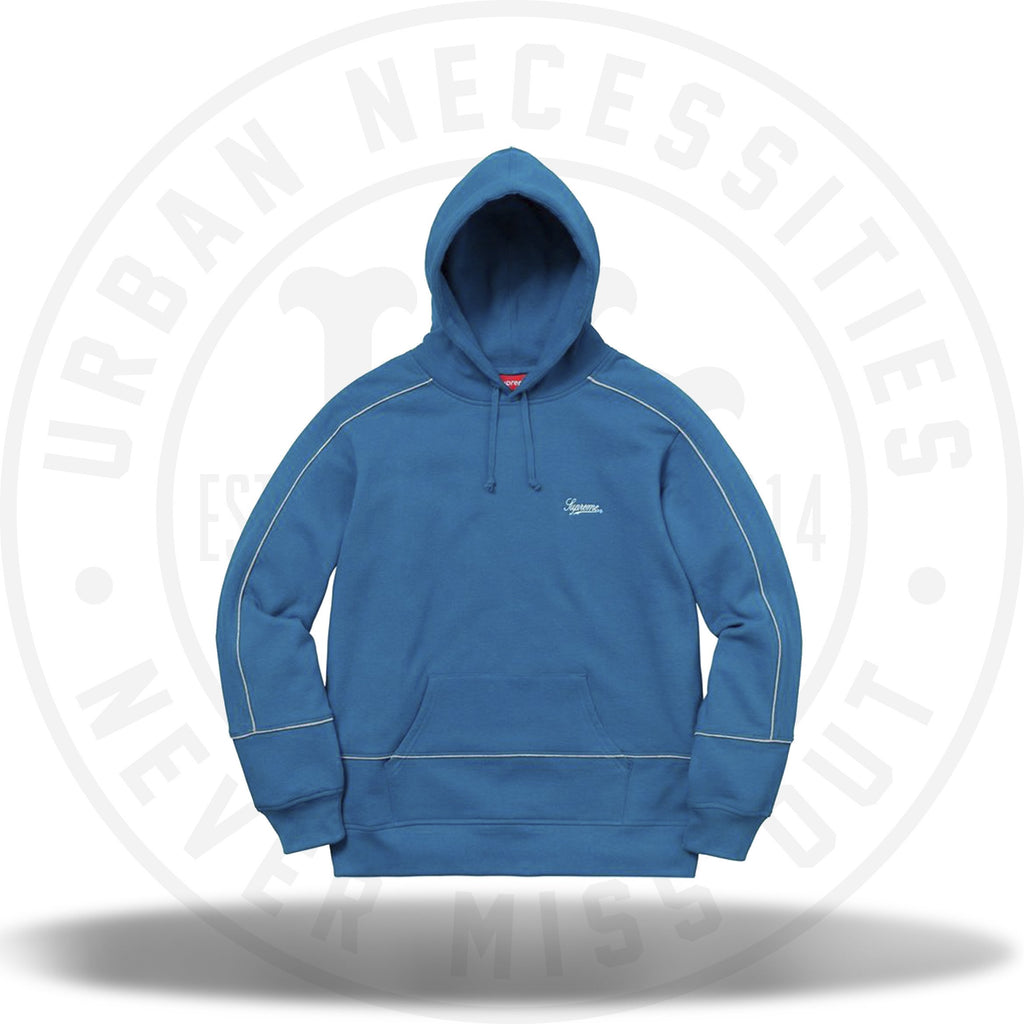 Supreme Piping Hooded Sweatshirt Dark Aqua-Urban Necessities