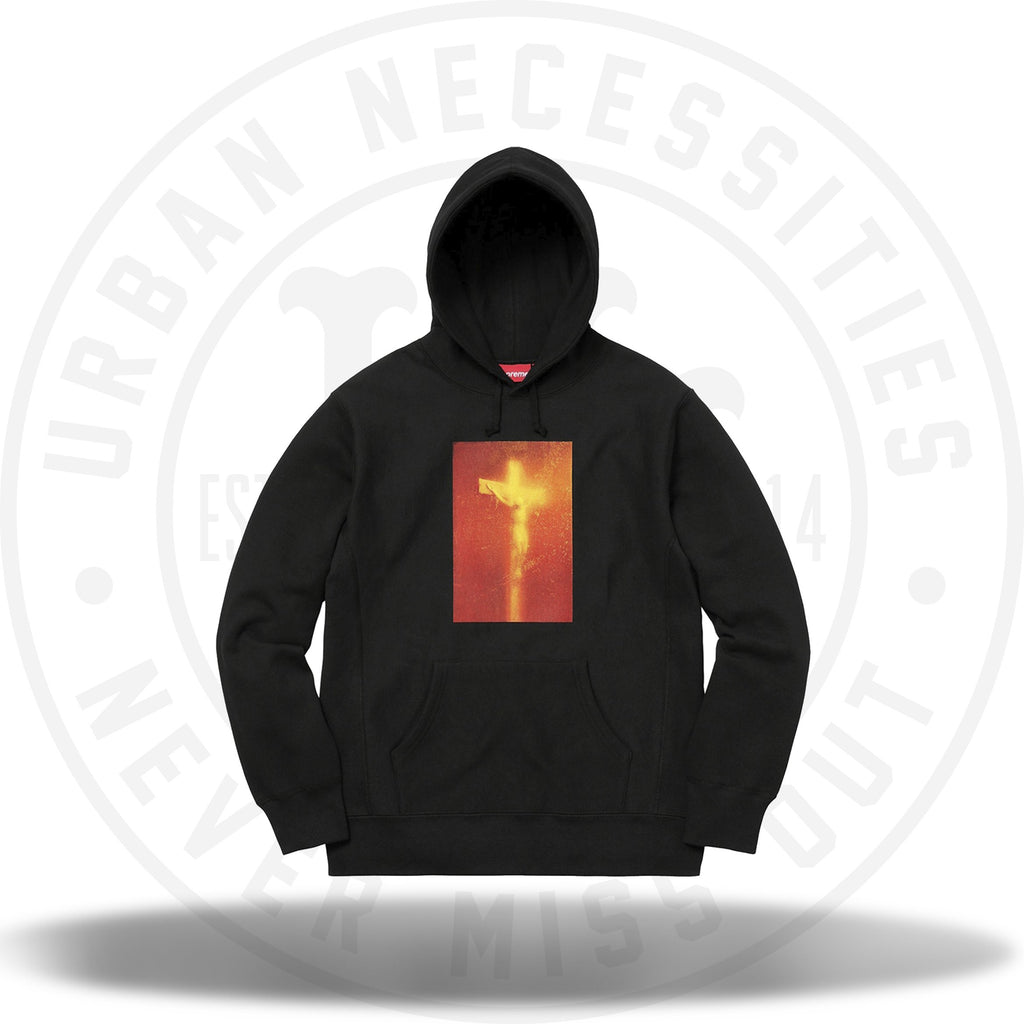 Supreme Piss Christ Hooded Sweatshirt Black-Urban Necessities