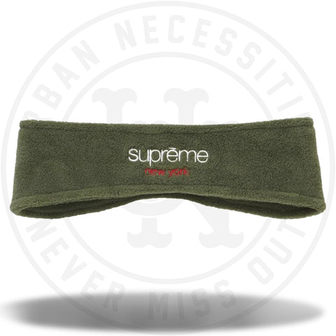 Supreme Polartec Headband Dark Green-Urban Necessities