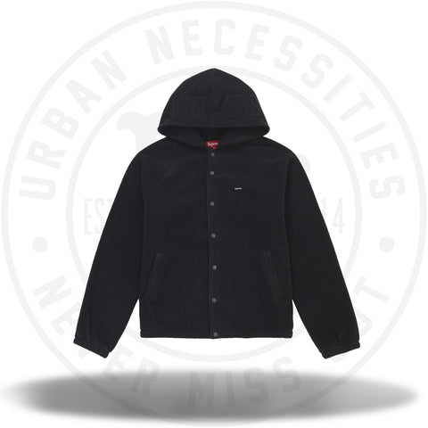 Supreme Polartec Hooded Raglan Jacket Black-Urban Necessities