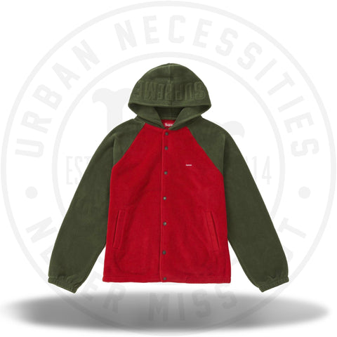 Supreme Polartec Hooded Raglan Jacket Red-Urban Necessities