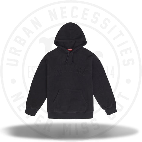 Supreme Polartec Hooded Sweatshirt (FW18) Black-Urban Necessities