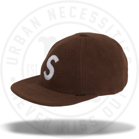 Supreme Polartec S Logo 6-Panel Brown-Urban Necessities