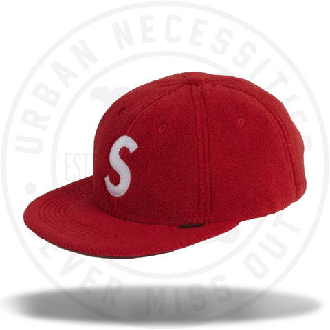 Supreme Polartec S Logo 6-Panel Red-Urban Necessities