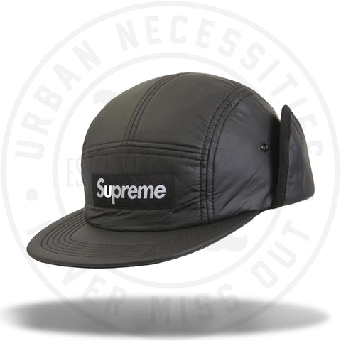 Supreme PrimaLoft Earflap Camp Cap Black-Urban Necessities