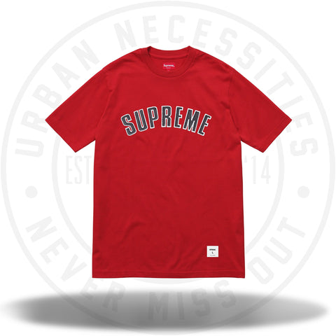 Supreme Printed Arc S/S Top Red-Urban Necessities
