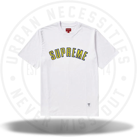Supreme Printed Arc S/S Top White-Urban Necessities